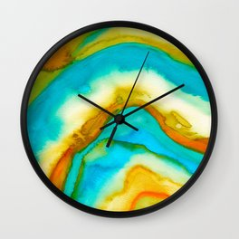 AGATE Inspired Watercolor Abstract 10 Wall Clock