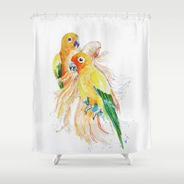 an unlikely grouping Shower Curtain