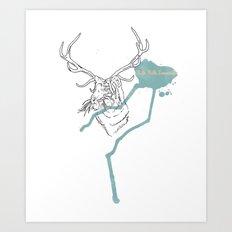 Tigersplat Art Print