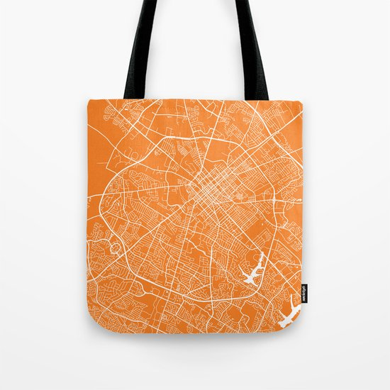 Lexington map orange Tote Bag