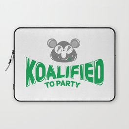 Koala Bear Party Celebration Koalified to Party Laptop Sleeve