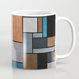 Random Concrete Pattern - Blue, Grey, Brown Coffee Mug