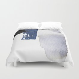 Navy Blue Abstract Duvet Cover