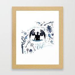 NO VILLAIN Framed Art Print
