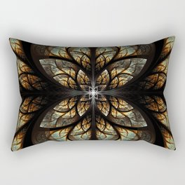 The Nexus - Metallic Black Rectangular Pillow