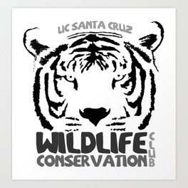 Wildlife Conservation Club B&W Art Print
