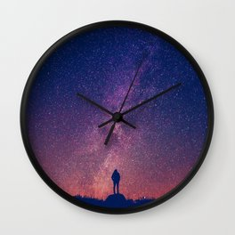 Gazing into Infinity | Night Sky | Star Galaxy Wall Clock