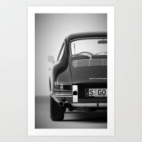 porsche Art Prints featuring Porsche by CABINWONDERLAND