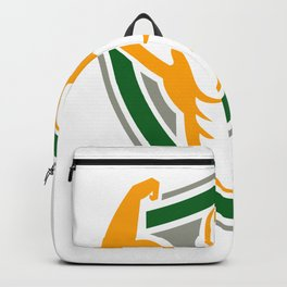 Strongman Flexing Muscles Crest Icon Backpack