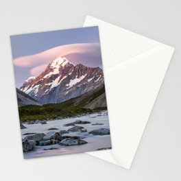 Hooker River and Mt Cook Stationery Cards