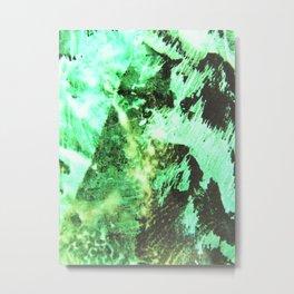 Green & Black Metal Print