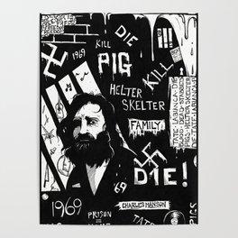 Serial Killer 3: Manson (b&w) Poster
