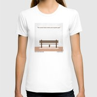 forrest gump T-shirts featuring No193 My Forrest Gump minimal movie poster by Chungkong