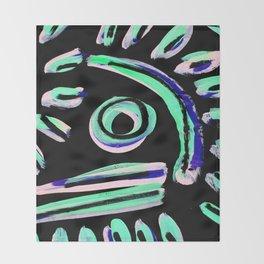 Tribal Graffiti  Throw Blanket