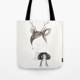 Cute Fawn with Bow Tote Bag