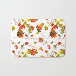 Autumn Leaves Hello Fall! Bath Mat