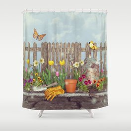 Spring Gardening Shower Curtain