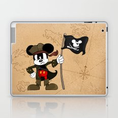 Black Ear the Pirate Laptop & iPad Skin