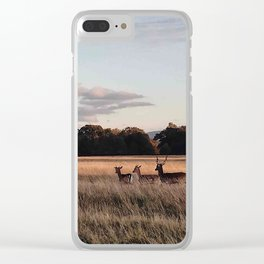 Deers going home Clear iPhone Case