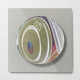 Weight Plates Orb Metal Print