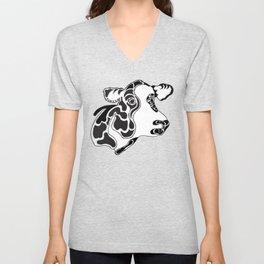 Cow in Ink Unisex V-Neck