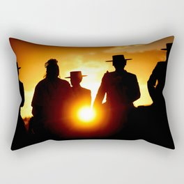 Golden pilgrims Rectangular Pillow