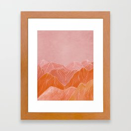 Lines in the mountains - pink II Framed Art Print