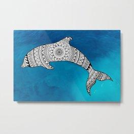 Dolphin's Blue Metal Print