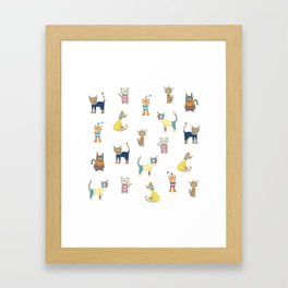 Cats in sweaters Framed Art Print