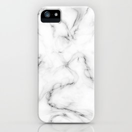 Deep Marble Texture Black White iPhone Case