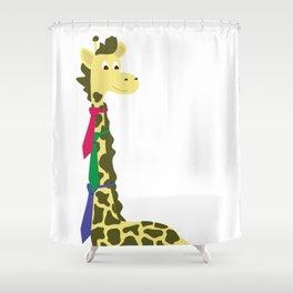 Giraffes spend a lot on ties... Shower Curtain
