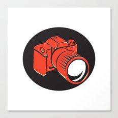 DSLR digital camera front retro Canvas Print