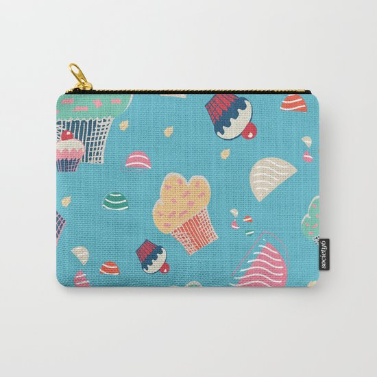 Cupcake blue Carry-All Pouch