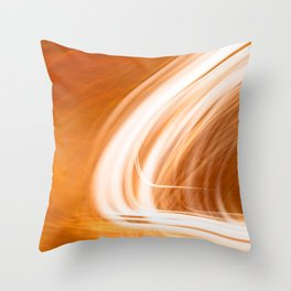 Abstract Light Streaks Throw Pillow