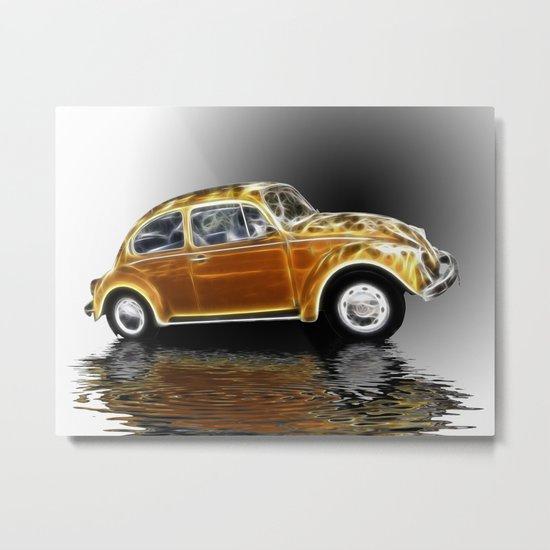 VW Beetle fractal Metal Print