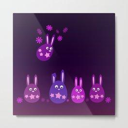 Easter Egg Bunnies - Make Room For Me! Metal Print