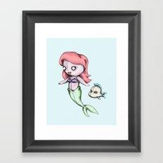 Plush Mermaid Framed Art Print