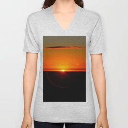 Sunrise at High Peak. Unisex V-Neck