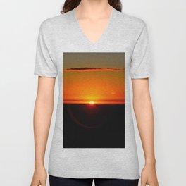 Sunrise at High Peak. Unisex V-Neck