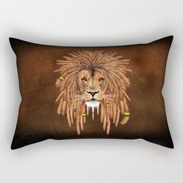Dreadlock Lion Rectangular Pillow