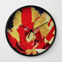 Parrot Tulip Abstract Wall Clock
