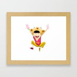 tekkon kid blanco Framed Art Print