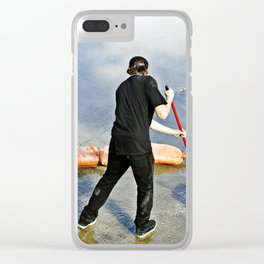 Sweeping Water Clear iPhone Case