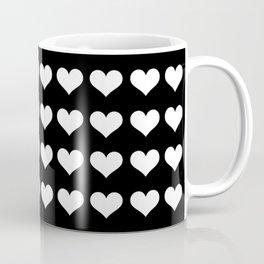Mini White Hearts Coffee Mug