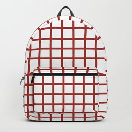 Grid (Brown & White Pattern) Backpack