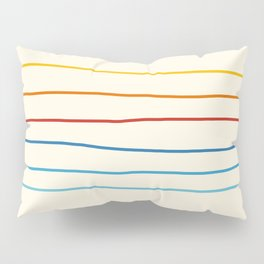 Abstract Retro Stripes #1 Pillow Sham