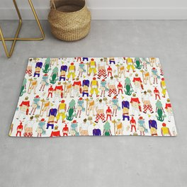 Fast Food Butts Pattern Rug