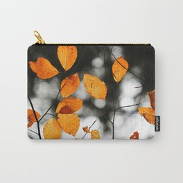 Orange Leafs (Color) Carry-All Pouch