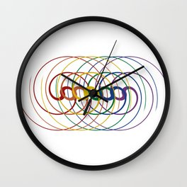 Rainbow Harmony Wall Clock