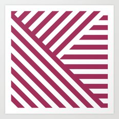 Geometric Pink Art Print